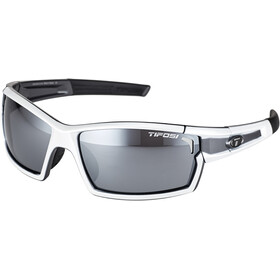 Tifosi Escalate SF Lunettes Homme, white/gunmetal - smoke/ac red/clear